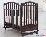 Классическая детская кроватка Гандылян Лейла (махагон, качалка-колесо)