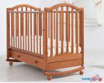Классическая детская кроватка Гандылян Лейла (вишня, качалка-колесо)