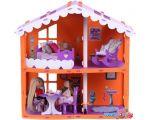 Кукольный домик Krasatoys Загородный дом Анжелика с мебелью 000254 (оранжевый/сиреневый) в Витебске
