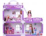 Кукольный домик Krasatoys Дом Анна с мебелью 000269 (белый/сиреневый)