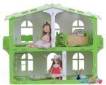 Кукольный домик Krasatoys Загородный дом София с мебелью 000264 (белый/салатовый)
