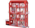Кукольный домик Krasatoys Коттедж Александра с мебелью 000252 (белый/красный)