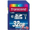 Карта памяти Transcend SDHC Class 10 UHS-I Premium 32Gb (TS32GSDU1)
