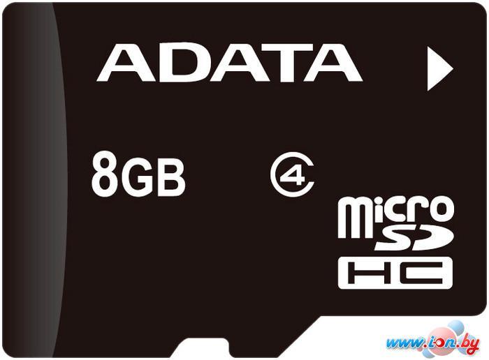 Карта памяти A-Data microSDHC (Class 4) 8GB (AUSDH8GCL4-R) в Могилёве