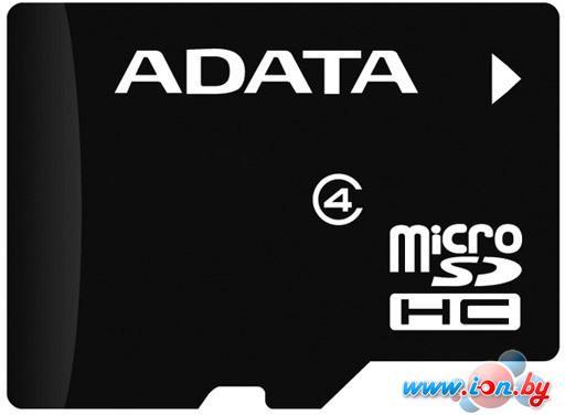 Карта памяти A-Data microSDHC (Class 4) 4Gb (AUSDH4GCL4-RA1) в Могилёве