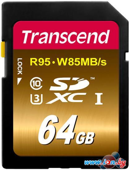 Карта памяти Transcend SDXC UHS-I U3 Class 10 64GB (TS64GSDU3X) в Могилёве