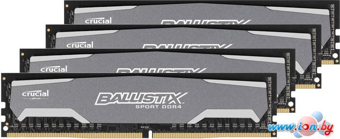 Оперативная память Crucial Ballistix Sport 4x4GB KIT DDR4 PC4-19200 (BLS4C4G4D240FSA) в Могилёве