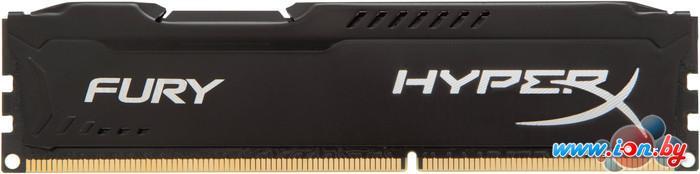 Оперативная память Kingston HyperX Fury Black 4GB DDR3 PC3-12800 (HX316C10FB/4) в Могилёве