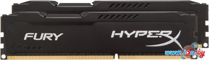 Оперативная память Kingston HyperX Fury Black 2x4GB KIT DDR3 PC3-12800 (HX316C10FBK2/8) в Могилёве
