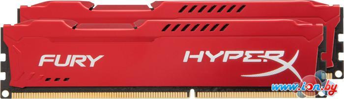 Оперативная память Kingston HyperX Fury Red 2x4GB KIT DDR3 PC3-12800 (HX316C10FRK2/8) в Могилёве
