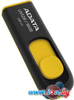 USB Flash A-Data DashDrive UV128 Black/Yellow 16GB (AUV128-16G-RBY) в Могилёве