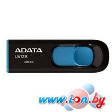 USB Flash A-Data DashDrive UV128 Black/Blue 8GB (AUV128-8G-RBE) в Могилёве