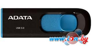 USB Flash A-Data DashDrive UV128 Black/Blue 64GB (AUV128-64G-RBE) в Могилёве