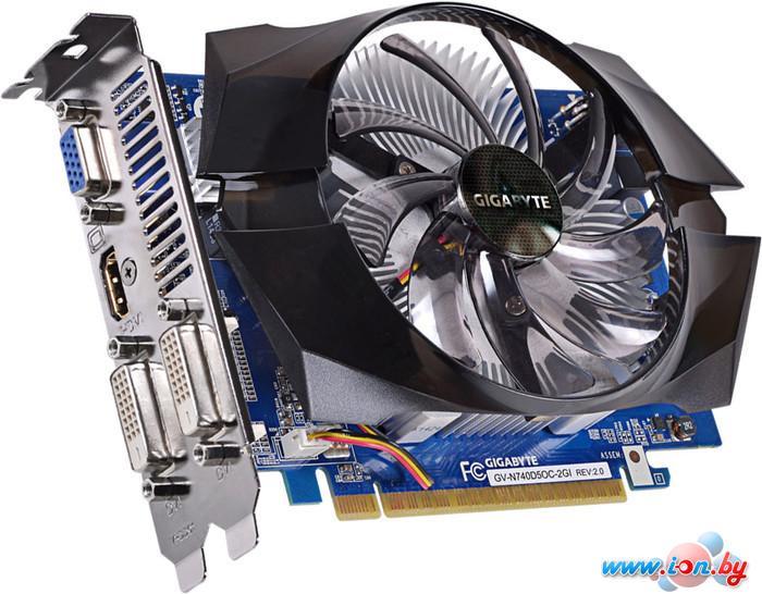 Видеокарта Gigabyte GeForce GT 740 OC 2GB GDDR5 (GV-N740D5OC-2GI (rev. 2.0)) в Могилёве