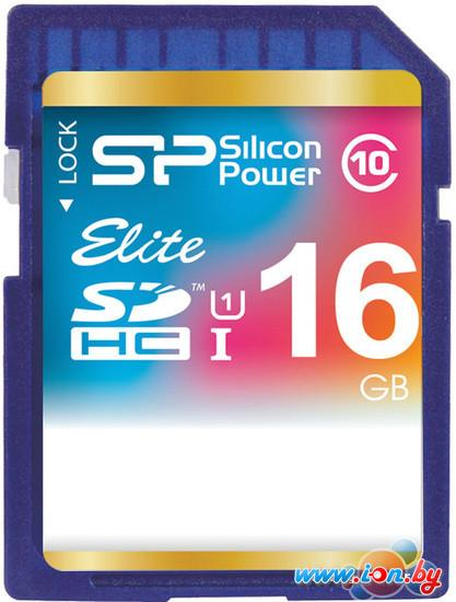 Карта памяти Silicon-Power SDHC Elite UHS-1 (Class 10) 16 GB (SP016GBSDHAU1V10) в Могилёве