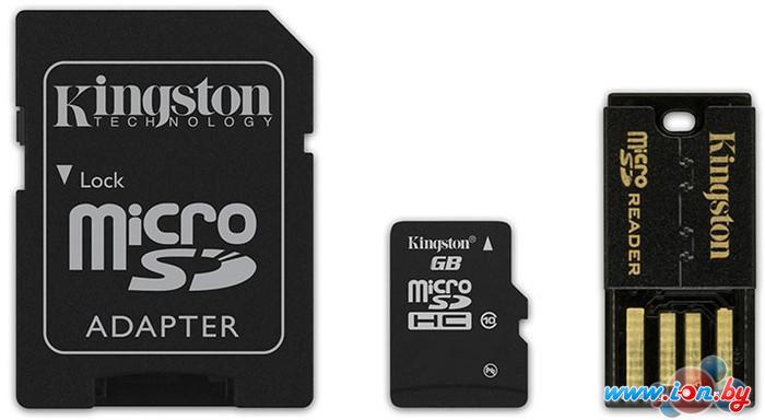 Карта памяти Kingston microSDHC (Class 10) 8GB + адаптер (MBLY10G2/8GB) в Могилёве
