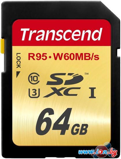 Карта памяти Transcend SDXC UHS-I U3 Class 10 64GB (TS64GSDU3) в Могилёве