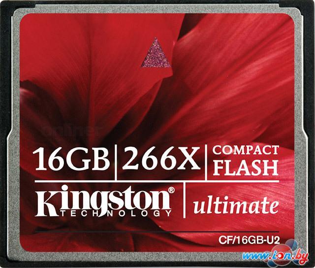 Карта памяти Kingston CompactFlash Ultimate 266X 16 Гб (CF/16GB-U2) в Могилёве