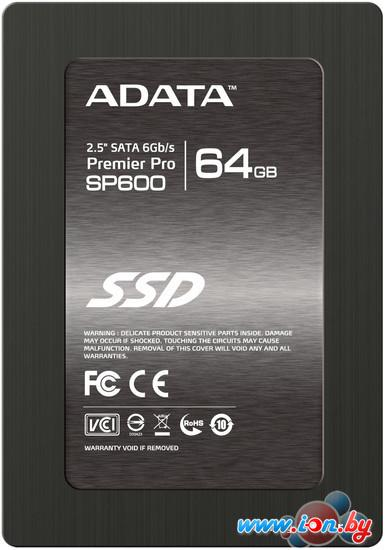 SSD A-Data Premier Pro SP600 64GB (ASP600S3-64GM-C) в Могилёве