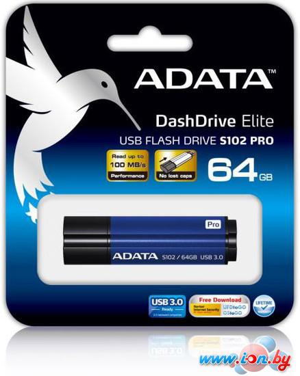 USB Flash A-Data S102 Pro Advanced 64GB (AS102P-64G-RBL) в Могилёве