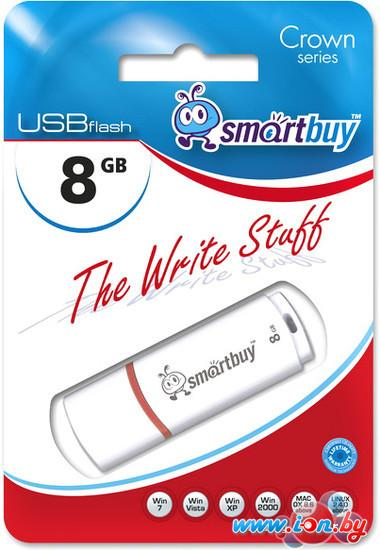 USB Flash Smart Buy Crown 8Gb White (SB8GBCRW-W) в Могилёве