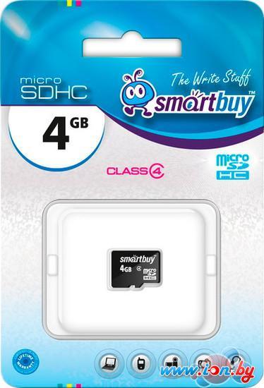 Карта памяти Smart Buy microSDHC (Class 4) 4 Гб (SB4GBSDCL4-00) в Могилёве