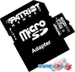 Карта памяти Patriot microSDHC (Class 10) 32 Гб + адаптер (PSF32GMCSDHC10) в Могилёве
