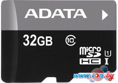 Карта памяти A-Data Premier microSDHC UHS-I Class 10 32GB (AUSDH32GUICL10-R) в Могилёве