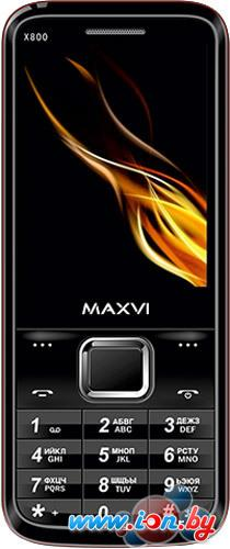 Мобильный телефон Maxvi X800 Black/Red в Могилёве