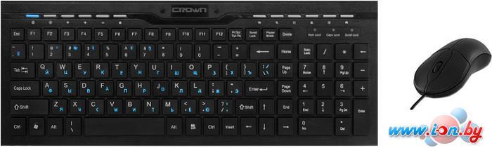 Мышь + клавиатура CrownMicro CMMK-855 Black в Могилёве