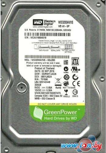 Жесткий диск WD AV 320GB (WD3200AVJS) в Могилёве