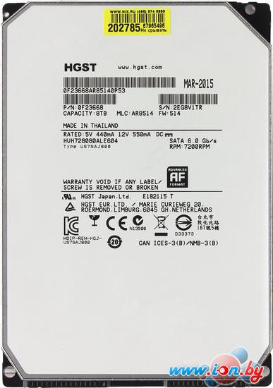 Жесткий диск Hitachi Ultrastar He8 8TB (HUH728080ALE604) в Могилёве