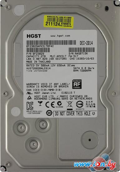 Жесткий диск Hitachi Ultrastar 7K6000 2TB (HUS726020ALE614) в Могилёве