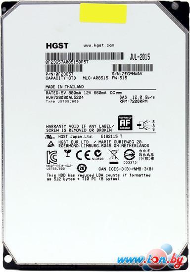 Жесткий диск Hitachi Ultrastar He8 8TB [HUH728080AL5204] в Могилёве
