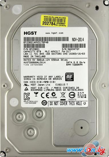 Жесткий диск Hitachi Ultrastar 7K6000 6TB (HUS726060ALE614) в Могилёве