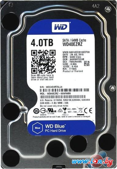 Жесткий диск WD Blue 4TB (WD40EZRZ) в Могилёве