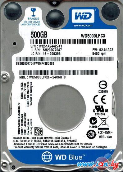 Жесткий диск WD 500GB (WD5000LPCX-24C6HT0) в Могилёве