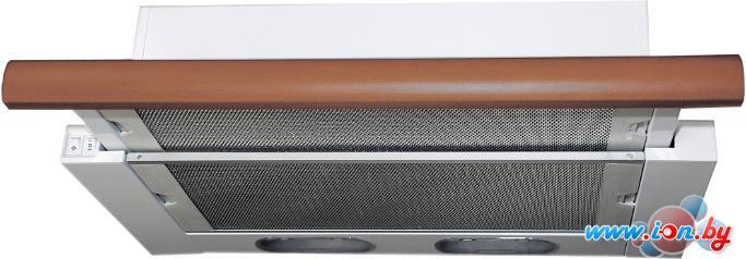 Кухонная вытяжка Elikor Интегра 60П-400-В2Л (белый/бук янтарь) в Могилёве