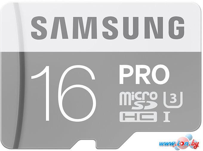Карта памяти Samsung Pro microSDHC UHS-I U3 Class 10 16GB (MB-MG16EA) в Могилёве
