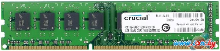 Оперативная память Crucial 8GB DDR3 PC3-12800 (CT102464BD160B) в Могилёве