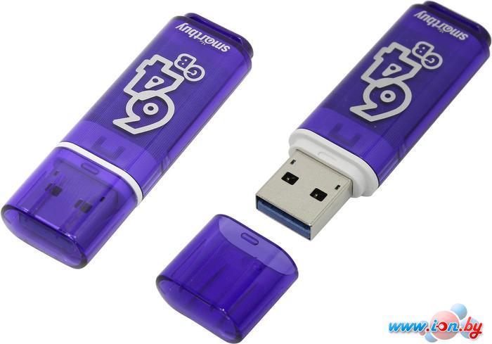 USB Flash Smart Buy Glossy Dark Blue 64GB [SB64GBGS-DB] в Могилёве