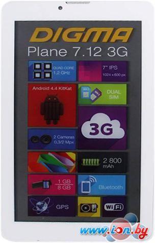 Планшет Digma Plane 7.12 8GB 3G White в Могилёве