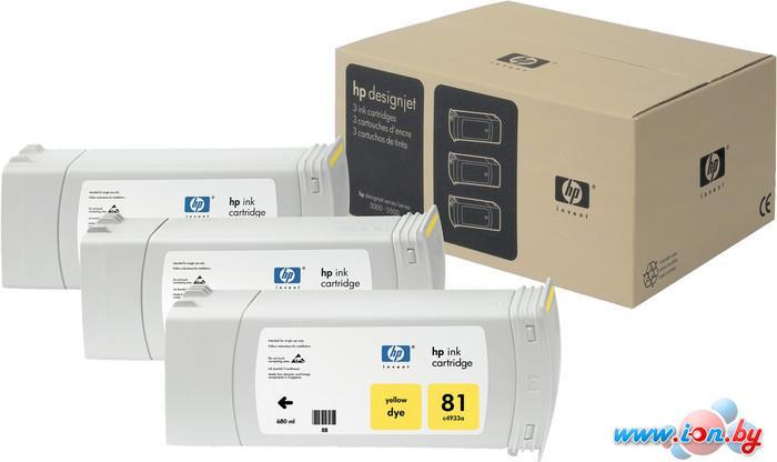 Картридж для принтера HP 81 (C5069A) 3 шт в Могилёве