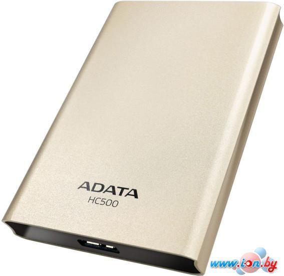Внешний жесткий диск A-Data HC500 2TB Golden (AHC500-2TU3-CGD) в Могилёве