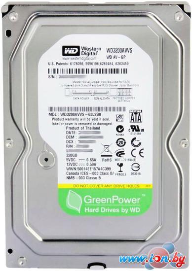 Жесткий диск WD AV-GP 320GB (WD3200AVVS) в Могилёве