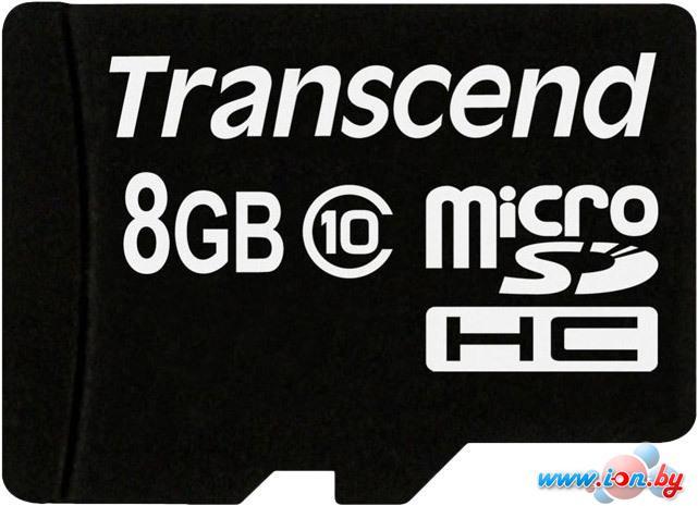 Карта памяти Transcend microSDHC (Class 10) 8GB (TS8GUSDC10) в Могилёве