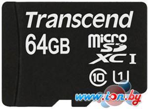 Карта памяти Transcend microSDXC UHS-I 400x Premium (Class 10) 64GB (TS64GUSDU1) в Могилёве