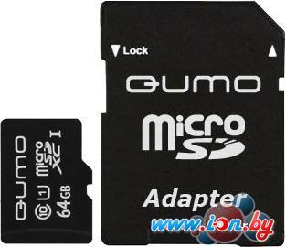 Карта памяти QUMO microSDXC UHS-1 64GB + адаптер (QM64GMICSDXC10U1) в Могилёве