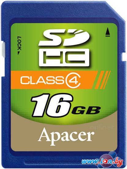 Карта памяти Apacer SDHC (Class 4) 16GB (AP16GSDHC4-R) в Могилёве