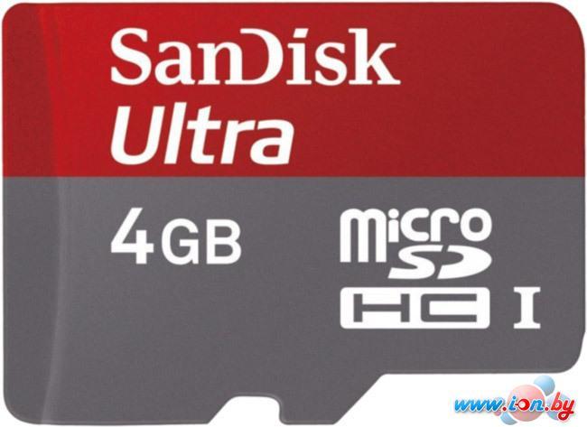Карта памяти SanDisk Ultra microSDHC (Class 6) 4GB (SDSDQYA-004G-U46A) в Могилёве